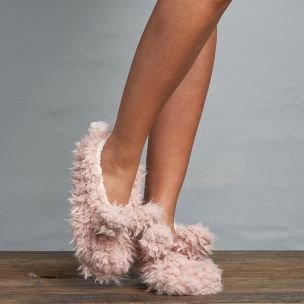 Lemon Collections Slippers - Shaggy Bunny Buff