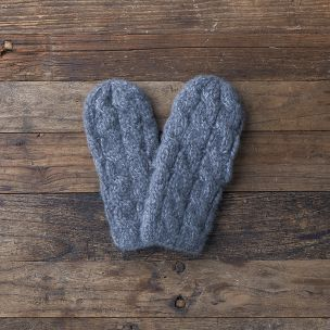 Lemon Collections Mittens - Knotting Hill Cable Flannel