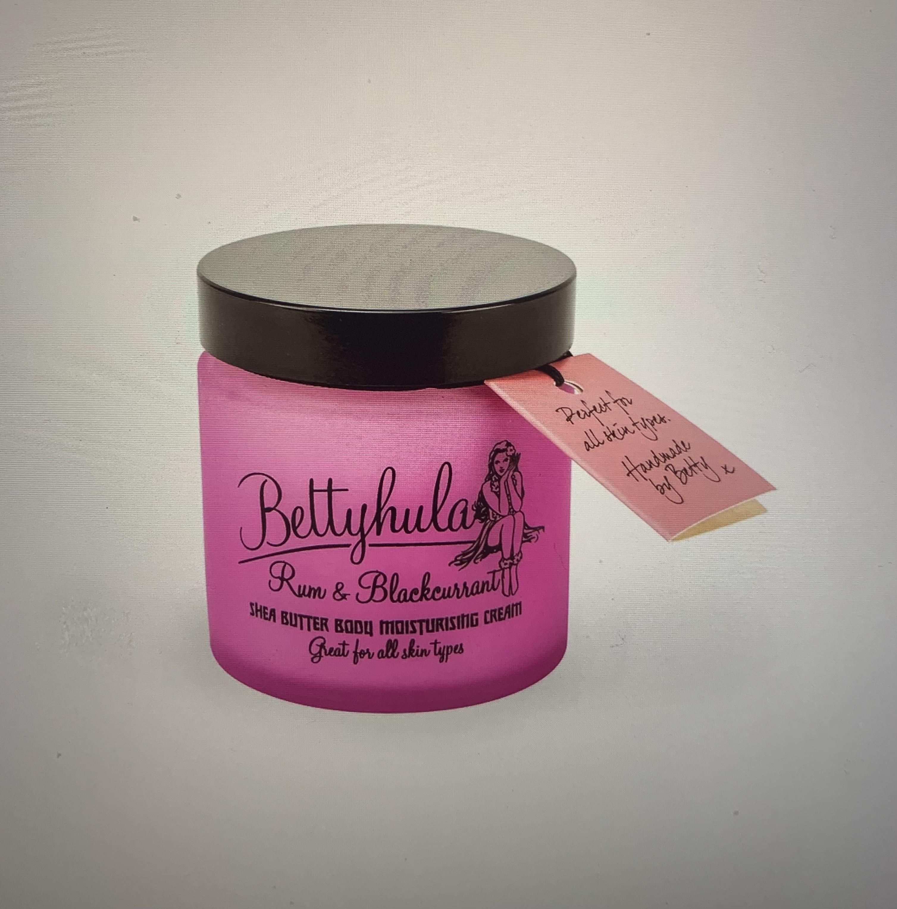 Betty Hula Shea Butter Body Moisturiser - Rum & Blackcurrant
