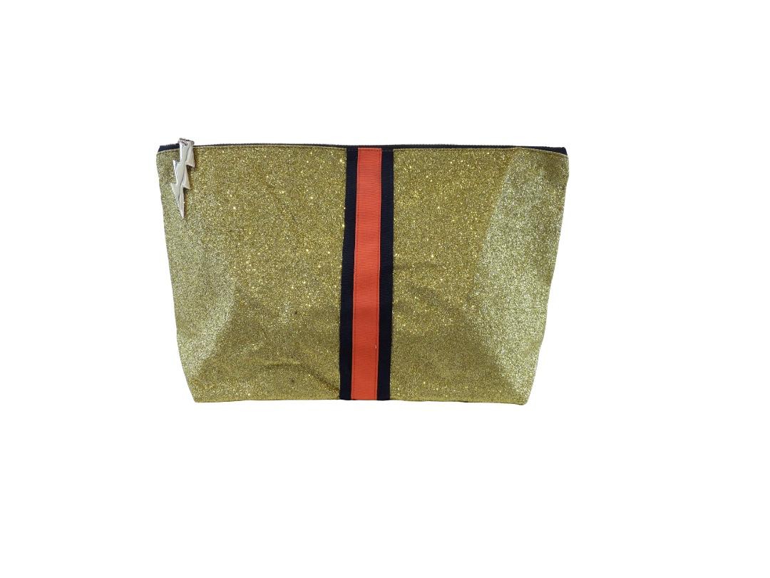 Cockatoo Glitter Bag - Gold Large