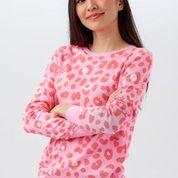 NEW Sugarhill Brighton Callie Sweater  - Candy Leopard Spot Pink