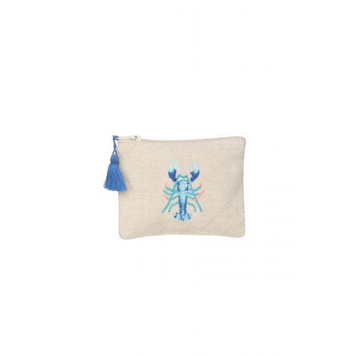 Ashiana Small Pouch - Blue Lobster