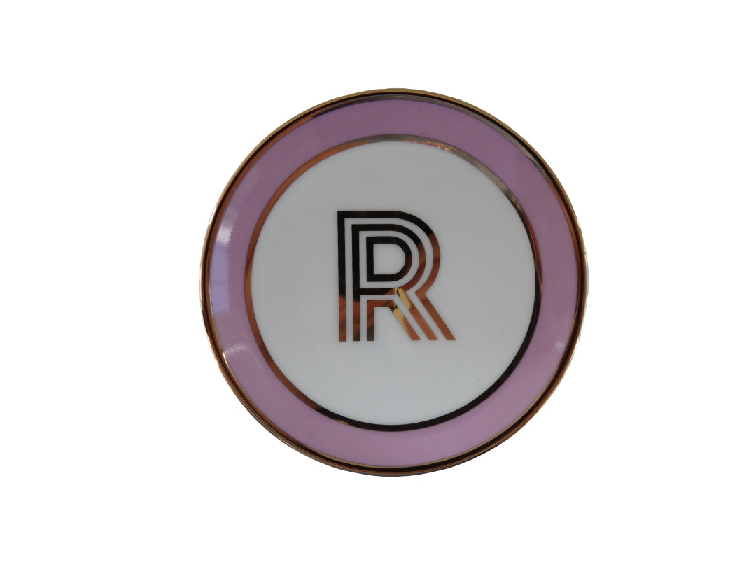 Bombay Duck Alphabet Trinket Dish - R