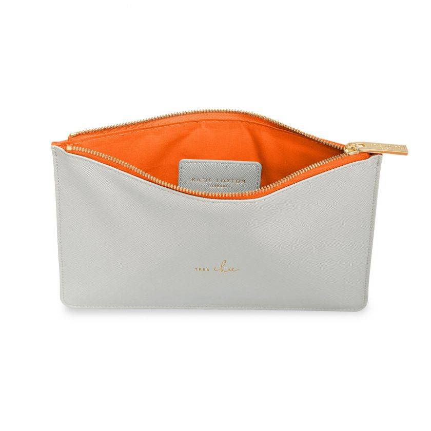 Katie Loxton NEW Perfect Pouch - 'Tres Chic' Pale Grey