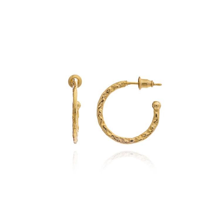 Azuni Earrings - Lydia Small Hoops Gold Plate