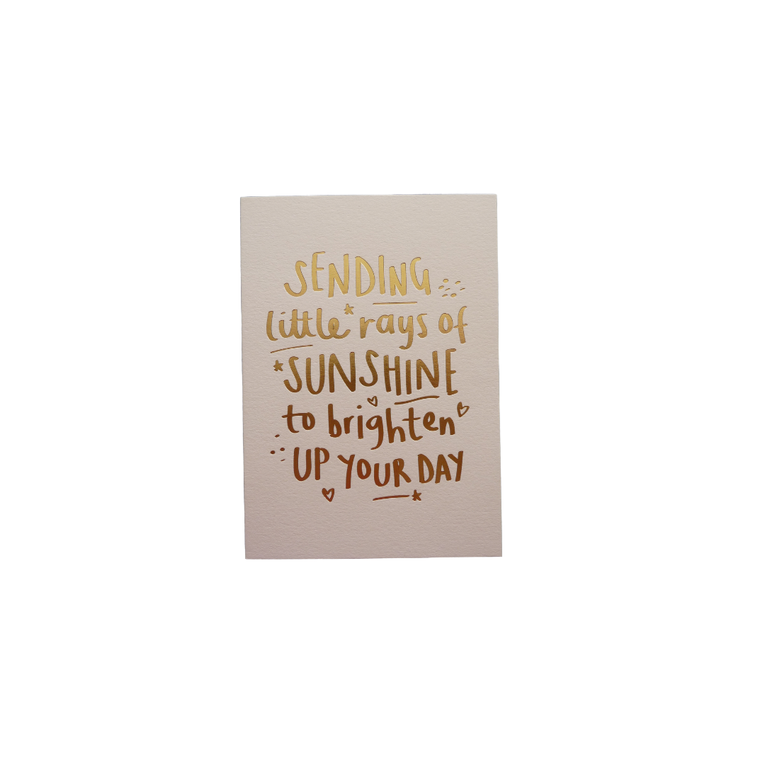 Card Thinking of You Megan Clare - Sending Rays of Sunshine BS23