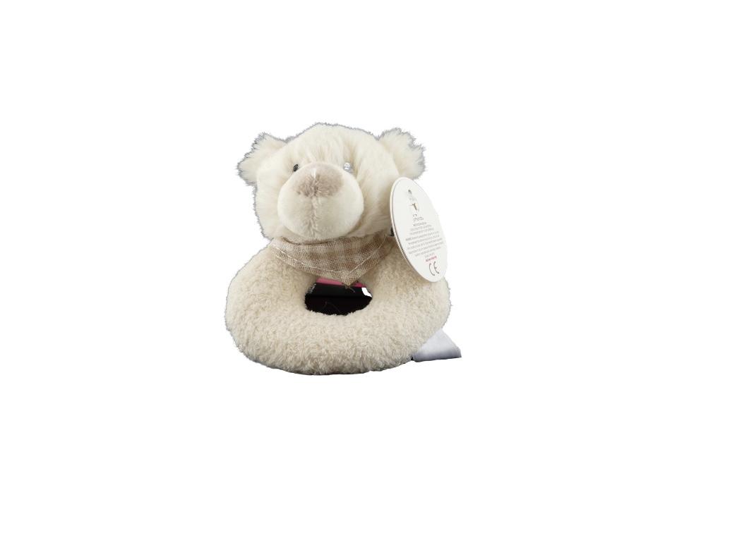 Rattle - Teddy Bear Cream