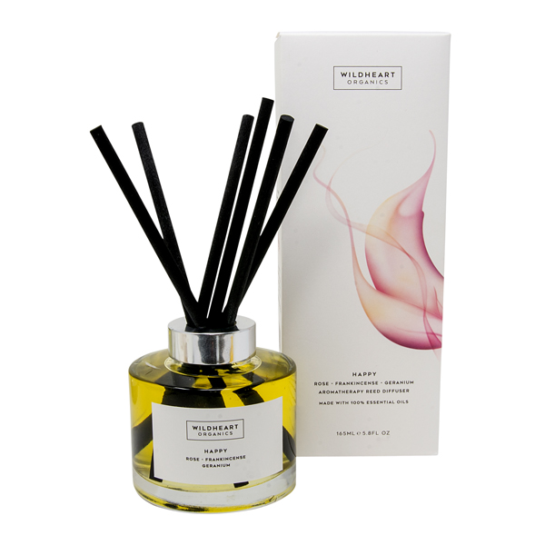 Wildheart Organics Aromatherapy Reed Diffuser - Happy