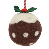 Gisela Graham Christmas Decoration Felt Christmas Pudding 11260