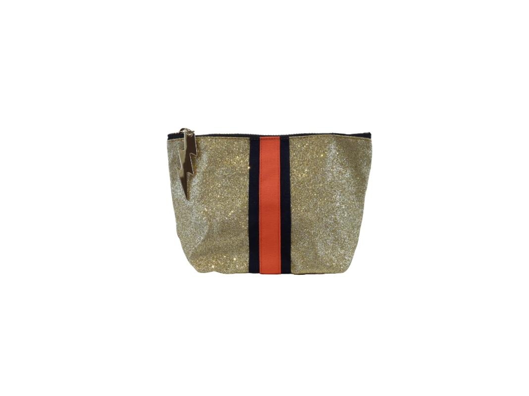 Cockatoo Glitter Bag - Gold Small