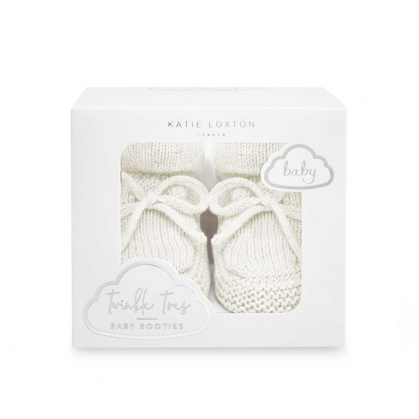 Katie Loxton Baby Booties - White