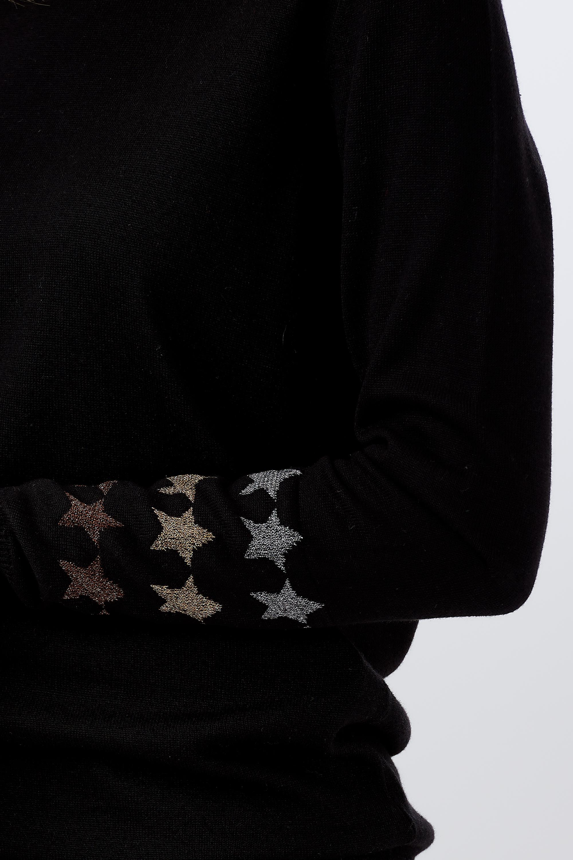 Sugarhill Brighton - Rita Starlight Cuff Sweater Black - WAS £49