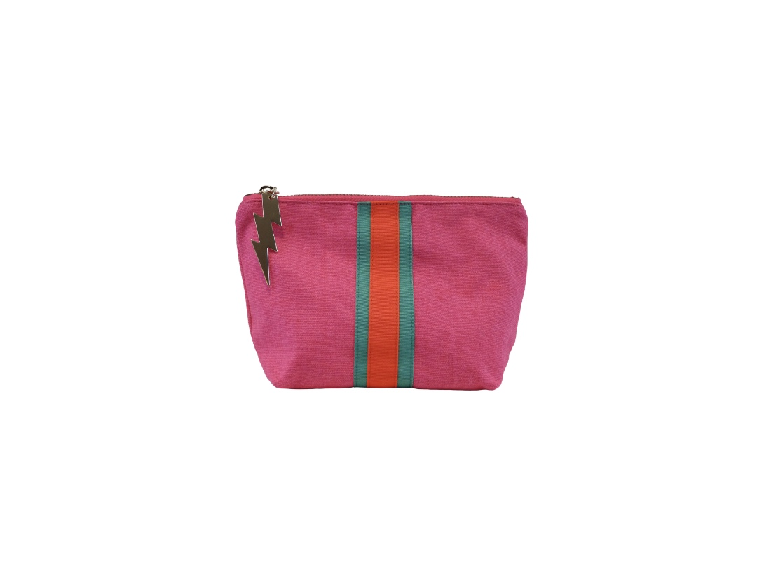 Cockatoo Bag - Lucky Stripe, Hot Pink Small