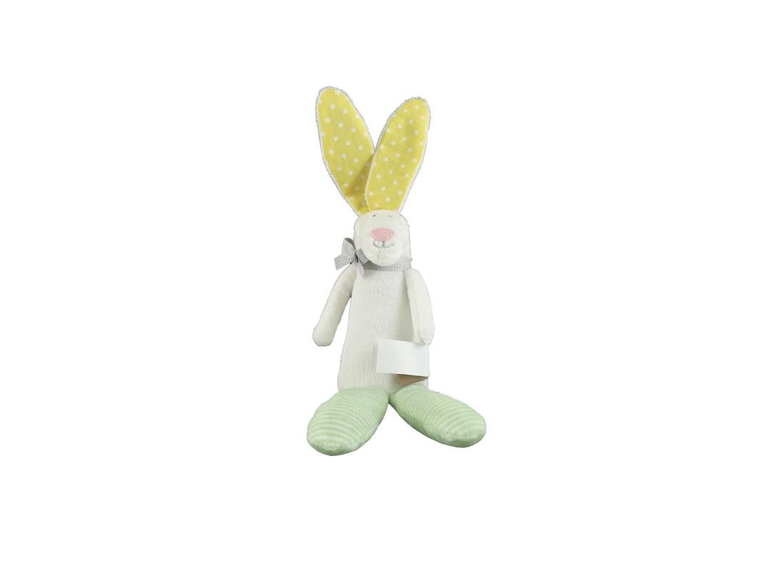 Rufus Rabbit Rattle - Yellow/Green