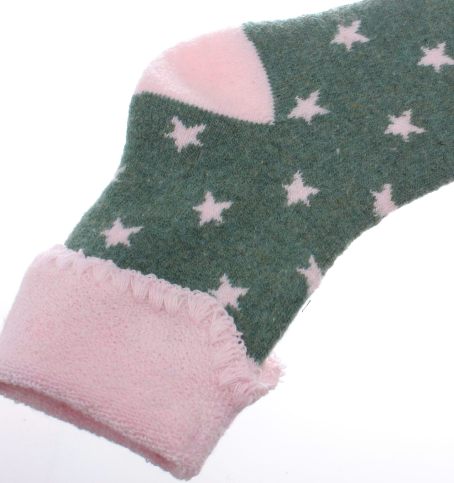 Jess & Lou Socks - Green/Pink Star