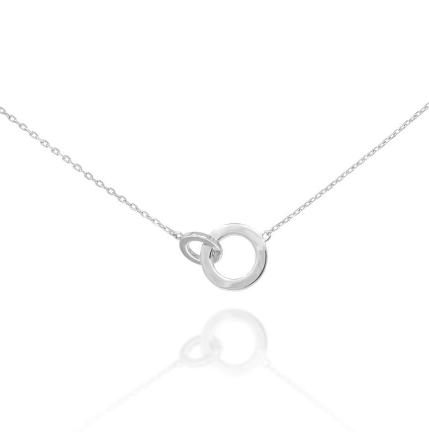 Connected Circle Necklace - Silver NG-2/S