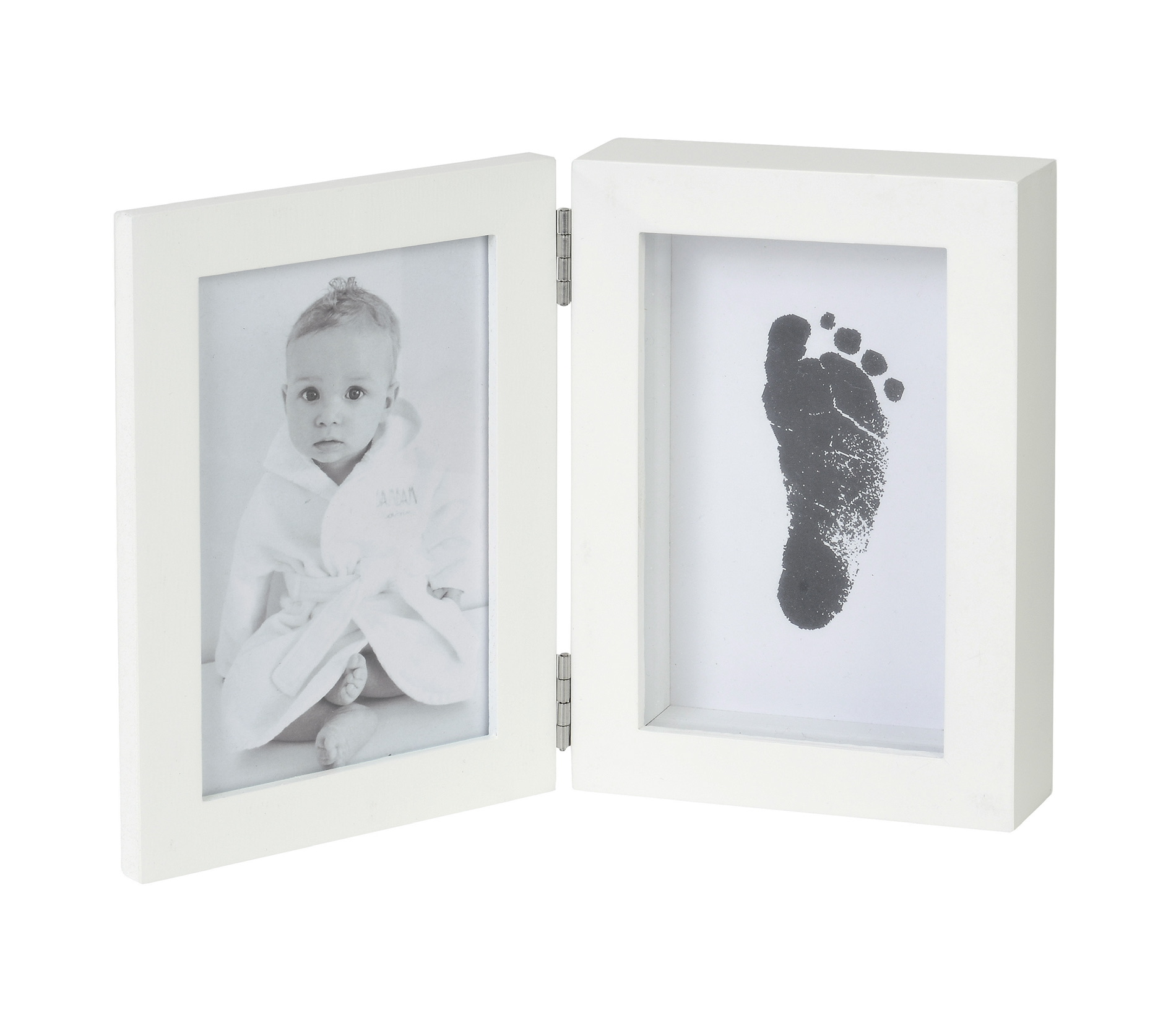 Baby Picture Frame + Footprint Gift Set
