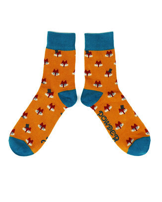 Mens Socks Powder - Fox Faces