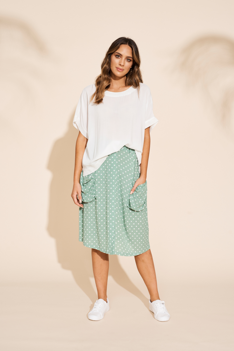 Eb&Ive Zuma Skirt in Palm