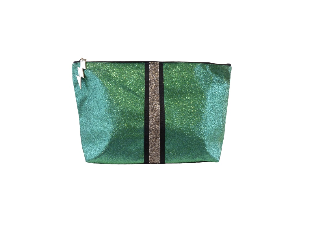 Cockatoo Glitter Bag - Green Large
