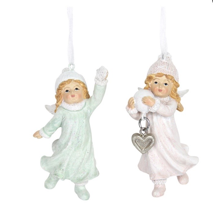 Gisela Graham Christmas Decoration Nostalgia - Fairy Girls