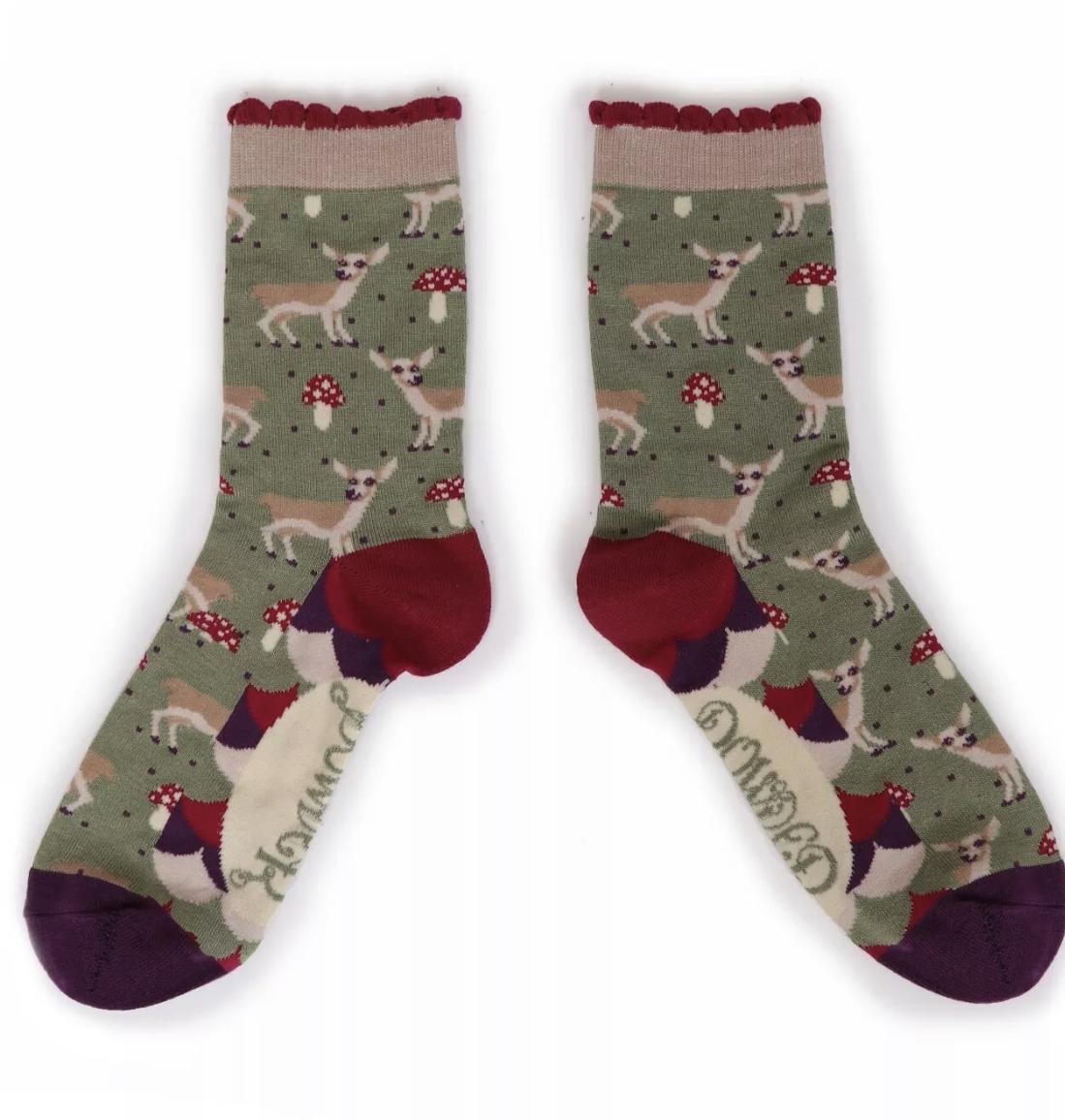 Powder Ankle Socks - Baby Deer