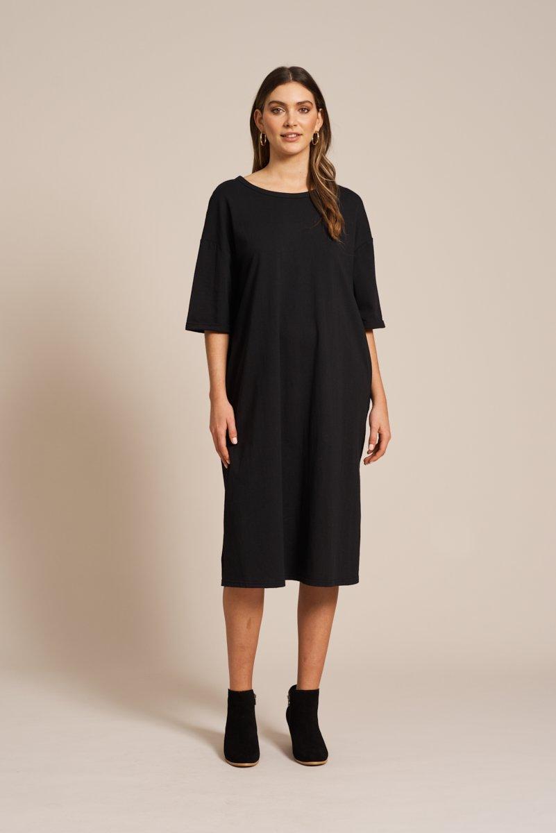 SALE Eb&Ive Rosa Tank Dress - Onyx WAS £55
