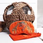 Elizabeth Scarlett - Eye Mask Giraffe Orange Velvet