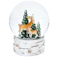 Gisela Graham Christmas Decoration Snowglobe - Reindeer with Trees Musical 37433