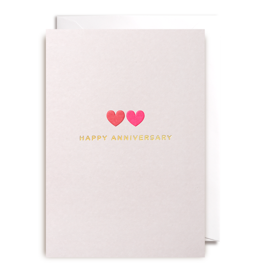 Card Anniversary Lagom   - Two Small Hearts 1037