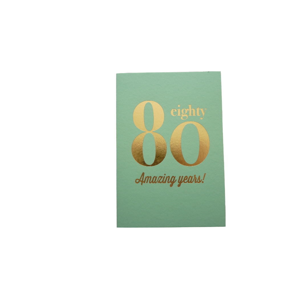 Card Age 80 Female - 80 Amazing Years - Bluebell DA057