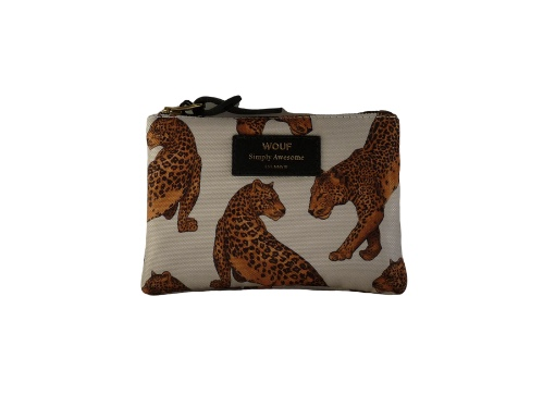 Wouf Pouch - White Leopard Small