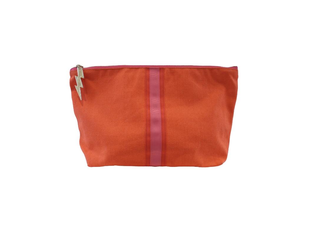 Cockatoo Bag - Lucky Stripe, Orange Large