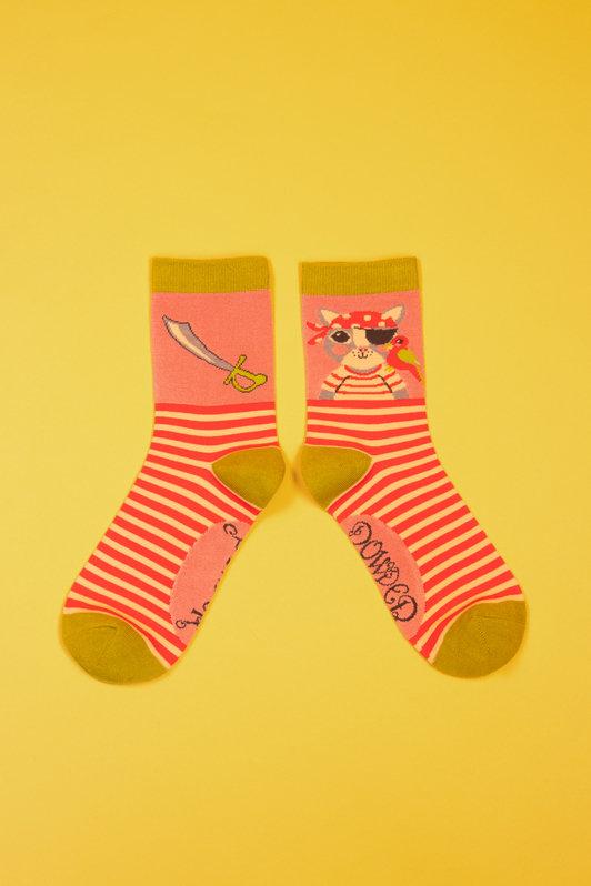Powder Ankle Socks - Pirate Pussy