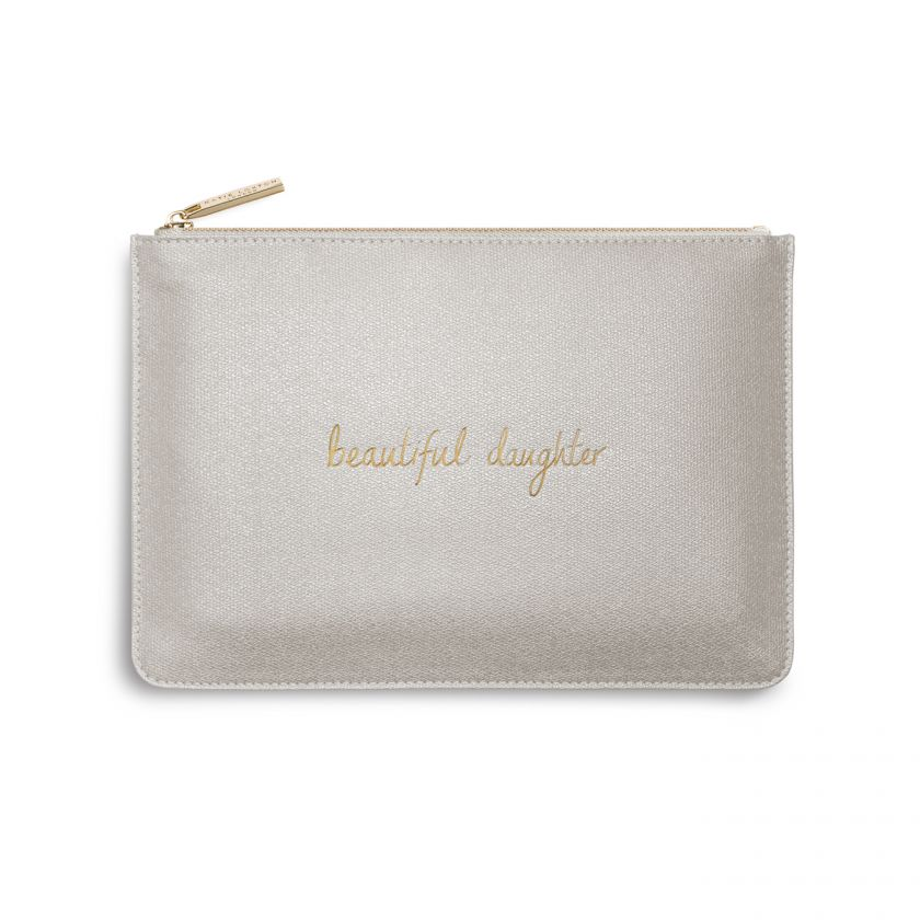 katie Loxton Perfect Pouch - 'Beautiful Daughter' Champagne Gold