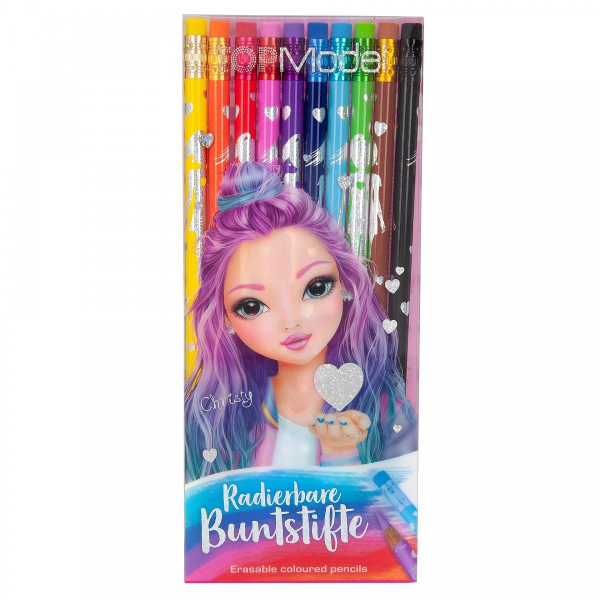 Top Model Erasable Colouring Pencils