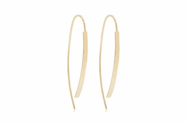 Boho Betty Earrings Bar Thread Through - Gold Jolie