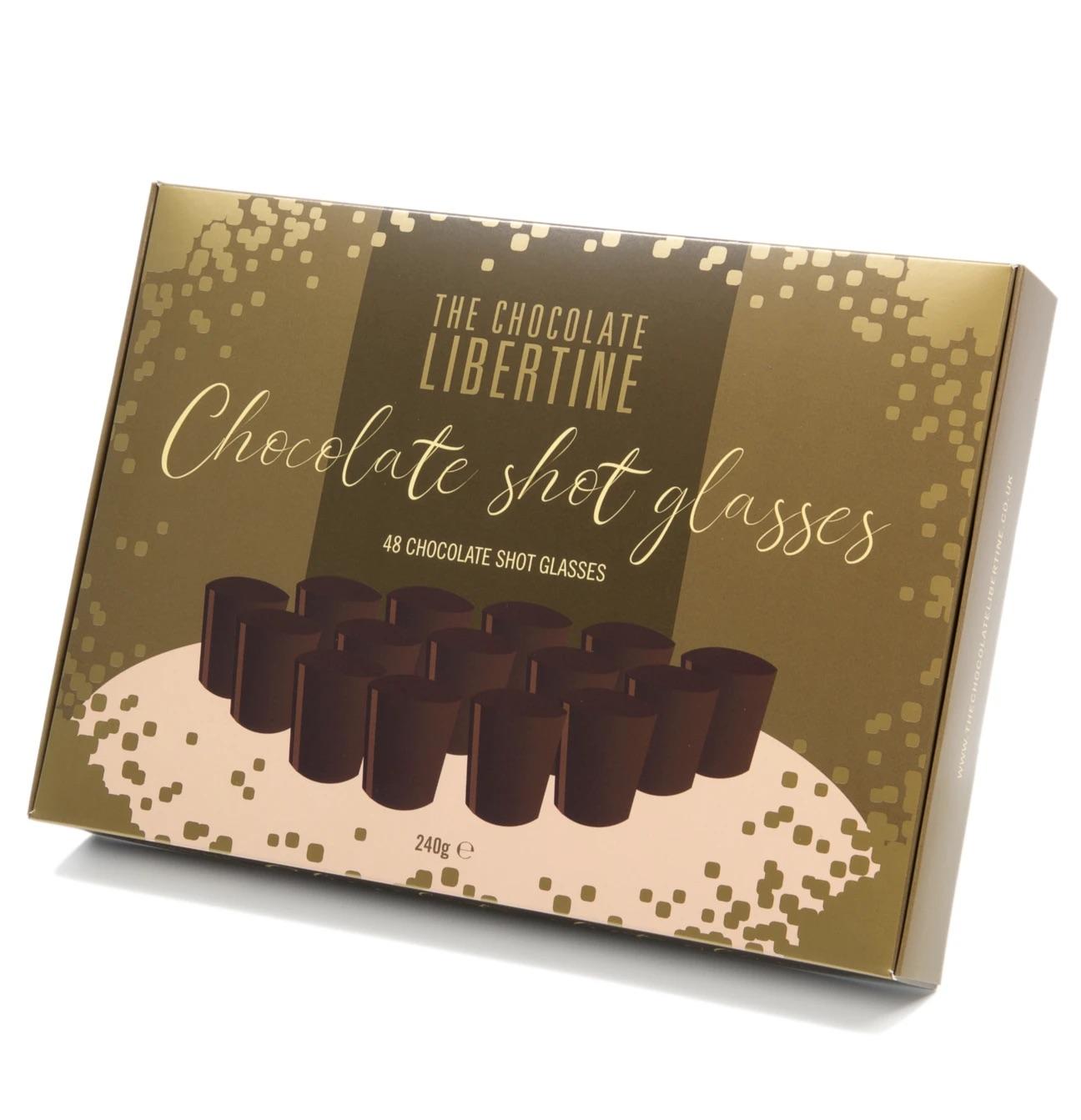 The Chocolate Libertine - Dark Chocolate Shot Glasses