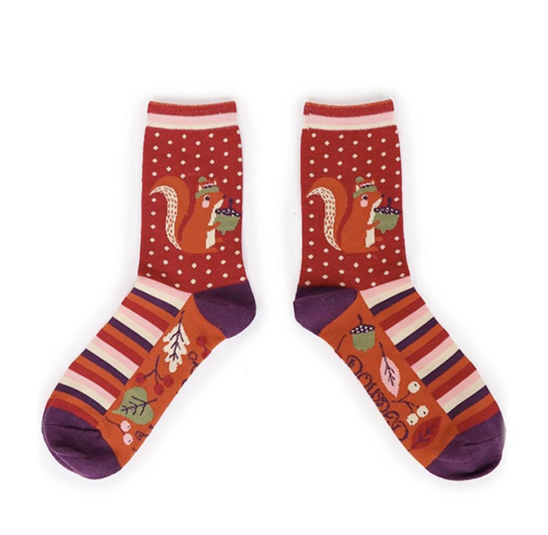 Powder Ankle Socks - Squirrel