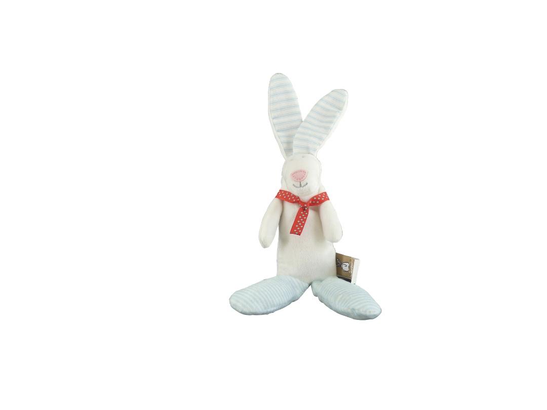 Rufus Rabbit Rattle - Blue