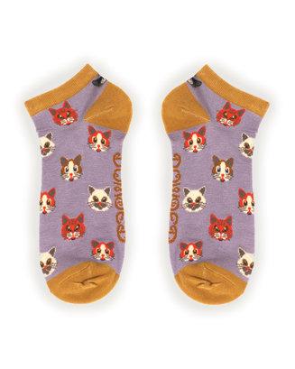 Powder Trainer Socks - Pussy Cats L