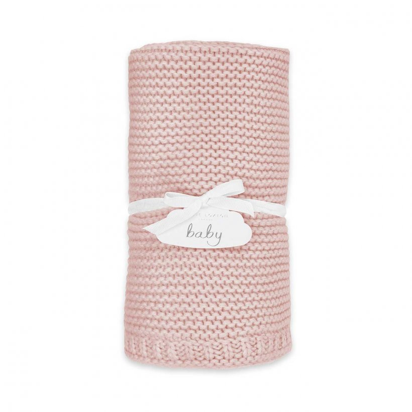 Katie Loxton Baby Blanket - Cotton Knitted Pink
