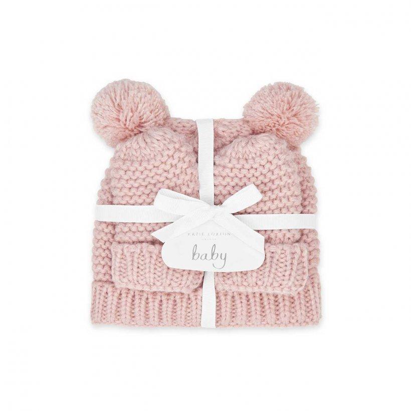 Katie Loxton Baby Hat & Mittens Set 0-6 Months Pink