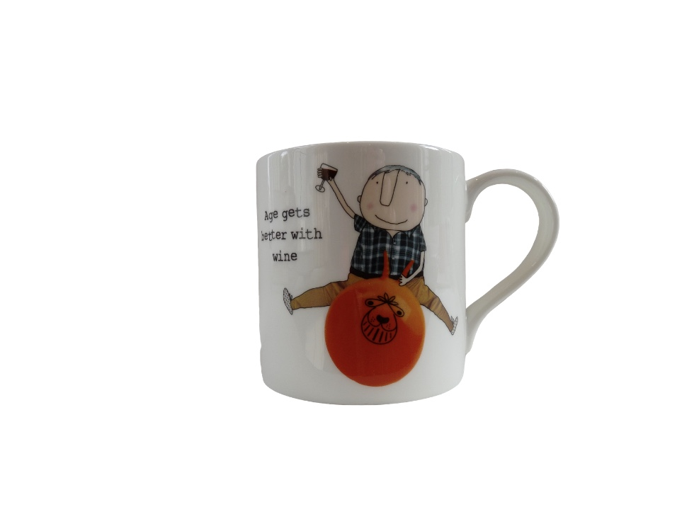 Rosie Made A Thing Mug - Age Gets Better With Wine