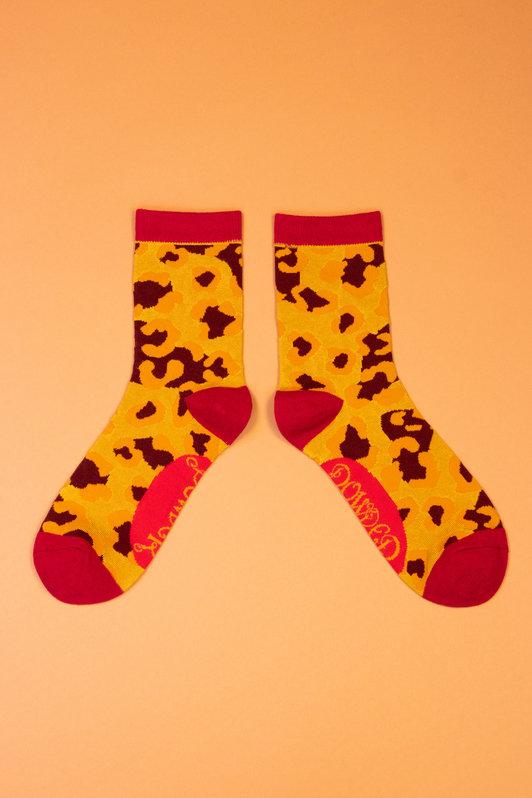 Powder Ankle Socks - Leopard Print