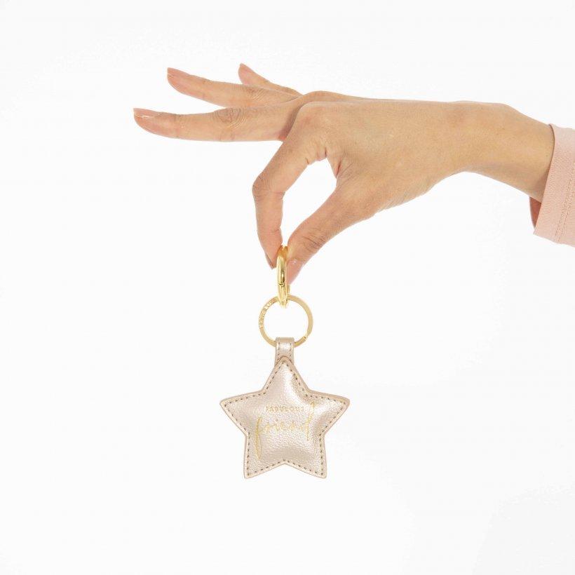Katie Loxton Keyring - 'Fabulous Friend' Silver Star