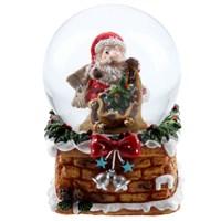 Gisela Graham Christmas Decoration Snowglobe - Santa on Chimney Mini - 6cm 33487