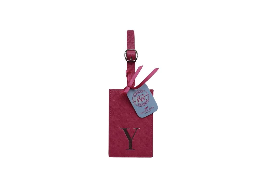 Bombay Duck Alphabet Luggage Tag - Y