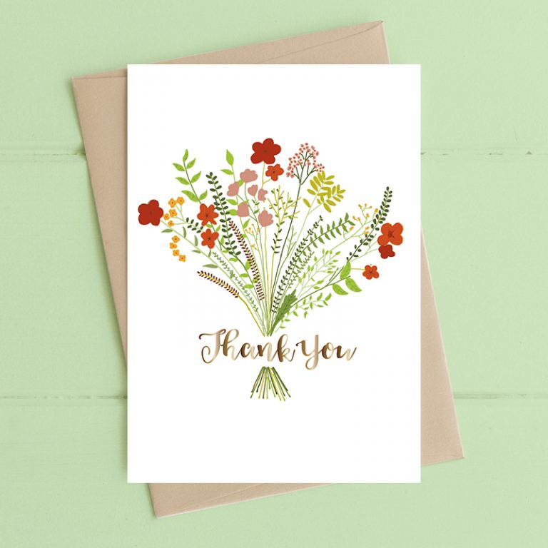 Card Thank You Dandelion - Floral Thank You F2304