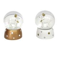 Gisela Graham Christmas Decoration Snow Globe - Mini Reindeer Polka Dot 39193